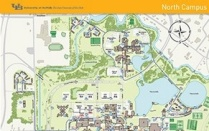 Map of north campus.