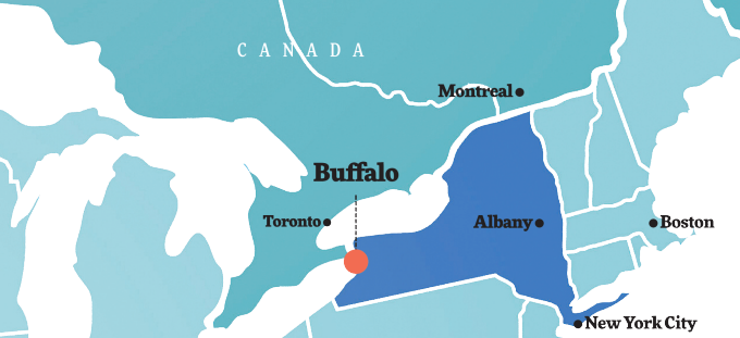 Western New York map.
