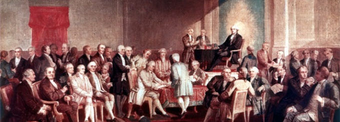 Signing of the Constitution by Thomas P. Rossiter