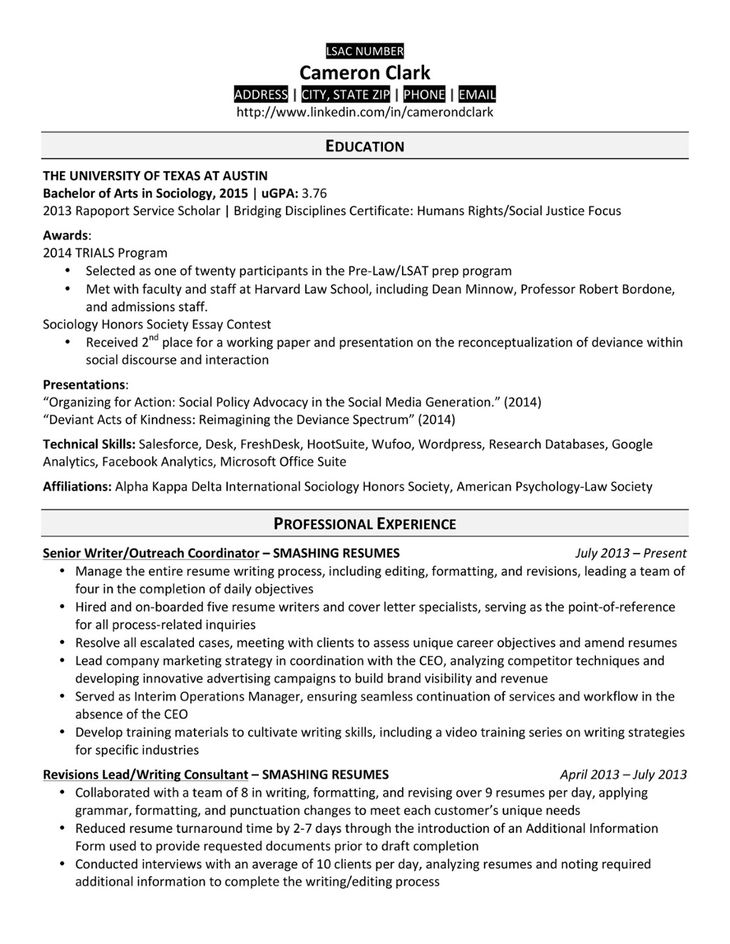 7 law school resume templates  prepping your resume for