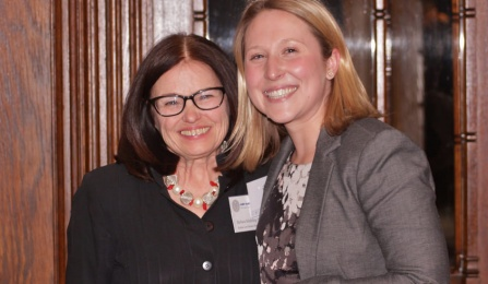 Barbara Schifeling '84 and Bridget Steele '16.