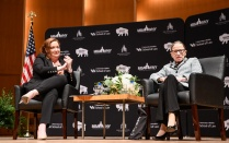 photo of Dean Abramovsky with Justice Ginsburg.