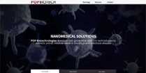 Screenshot of the POP Biotechnologies website.
