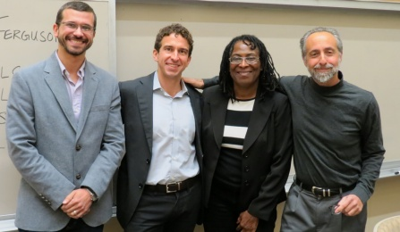 Figuring out Ferguson panelists included professors Luis Chiesa, Anthony O'Rourke, Athena Mutua and Guyora Binder.