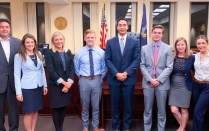 Oct. 27-28 - Sarah A. Elardo '19, William F. Fitzgerald '19, Salvatore M. Prince '19 and Spencer R. Stresing '19 took first place in the Queens County District Attorney Mock Trial Competition. Elardo received Best Overall Advocate. [Read more].