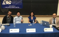 photo of Prof. Michael Boucai, Prof. Luis Chiesa, Prof. Nicole Hallett, and Prof. Rick Su.