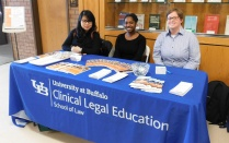 04/16/2019 - The Health Justice Law & Policy Clinic hosted National Healthcare Decisions Day where law students gave away scores of pocket-sized health care proxy forms from event partner ECMC and educational materials from The Conversation Project, a national campaign to encourage advance care planning.