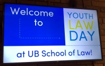 "04/05/2019 - The School of Law hosted Youth Law Day '19 ""Think Like a Lawyer"" where high school students visited the campus to participate in a half-day program that included a mock class, a Law Student Q&A panel, and an opportunity for our visitors to evaluate and argue a legal case."