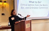 02/05/2020 – GOLD Group CLE: What to Do: Ethical Advice from the Bench, Bar & Grievance Committee featuring Margaret C. Callanan, Esq. '86, John J. DelMonte, Esq., Vincent E. Doyle III, Esq. '89, Hon. Erin M. Peradotto '84, and Joseph F. Saeli, Jr. Esq.