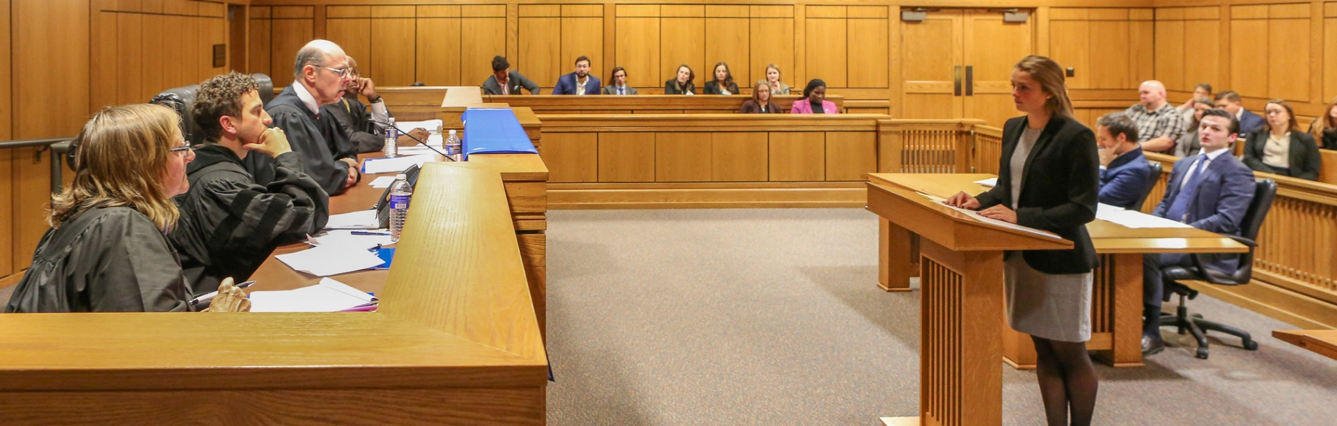 law students have an opportunity to participate in our annual Desmond Moot Court Competition.