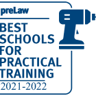 Prelaw Magazine named us a best school for Practical Training based on our clinical, externship and advocacy opportunities.
